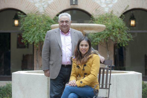 Tomás y Ainhoa Gutiérrez en el Parador de Chinchón, presentación de la VIII Ruta del Cocido.