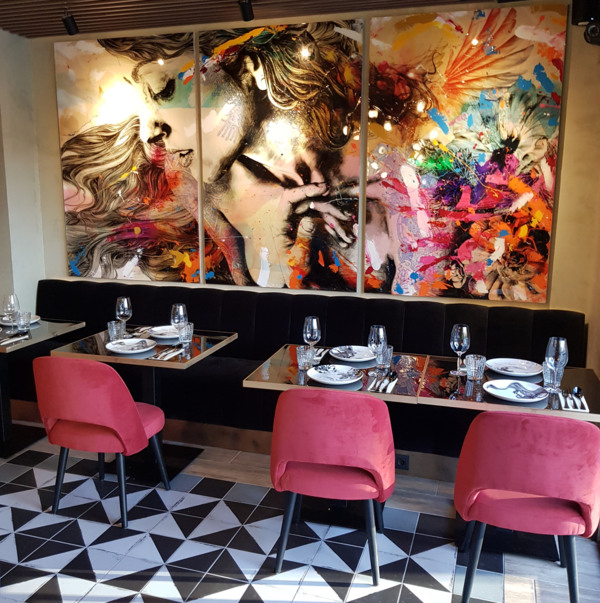 La decoración es un valor añadido de este restaurante.