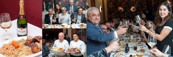 Ainhoa y Tomás Gutiérrez brindan con champagne y cocido madrileño. ¡Feliz Navidad y Próspero Año Nuevo! CM-MG.