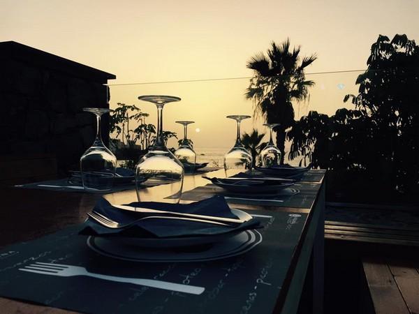 Atardecer en el Restaurante Andana Beach Club