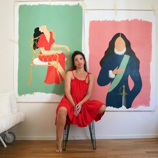 Mart Leyva. Pintora afincada en Estocolmo (Suecia).