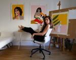 La pintora Marta Leyva en Madrid
